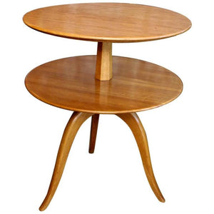 Elegant pair of Two-Tier Side Table by Paul Frankl