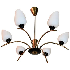 Beautiful French Mid-Century Chandelier Attributed to Maison Arlus