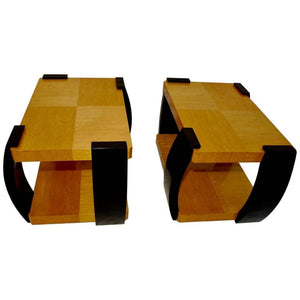 Beautiful and Elegant Pair of French Art Deco Side Table