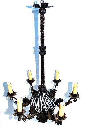 Beautiful and Elegant French Iron Chandelier