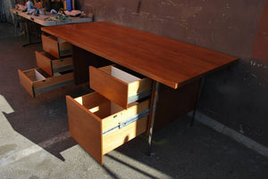 Walnut Desk by Floence Knoll