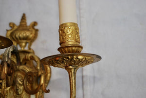 Beautiful Pair of French Late 19th Century Bronze Sconces