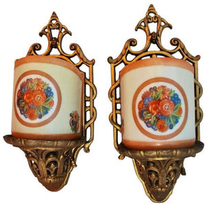 Rare Set of Eight Art Deco Sconces
