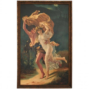 Beautiful 1920's painting signed G.Moreschi