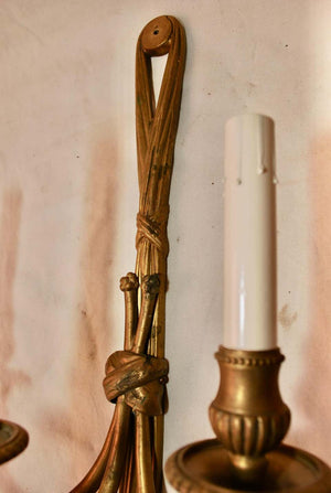 Beautiful Set of Four Large French Bronze Sconces