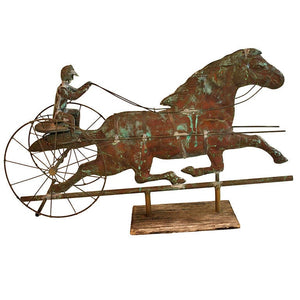 19th Century Weathervane Horse and Gentleman