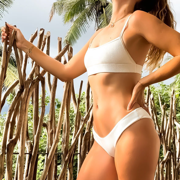 THE FORGET ME NOT IVORY RIBBED BOTTOMS
