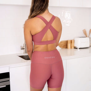 DUSTY PINK BIKER SHORTS