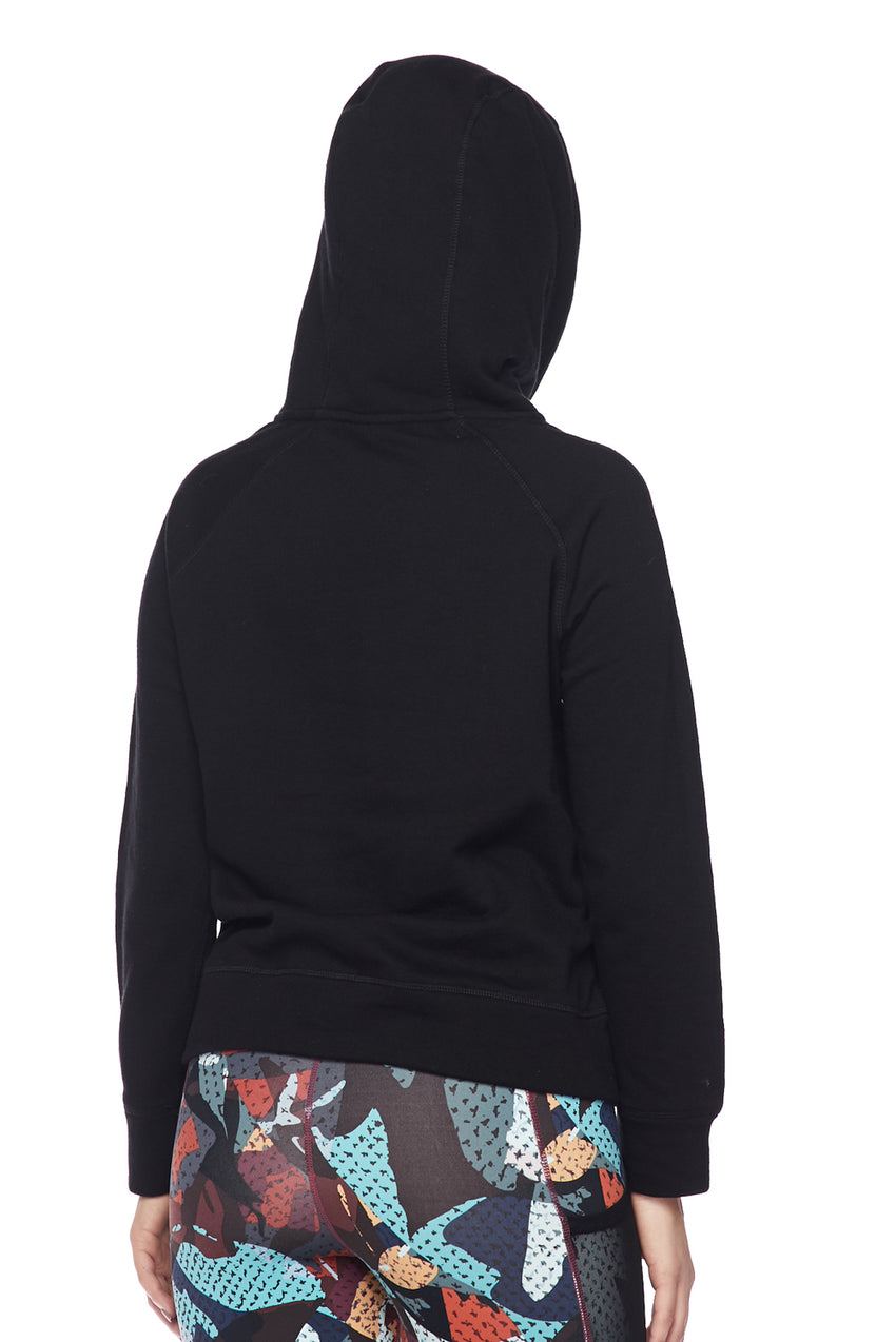 B Logo High Neck Pullover Hoodie