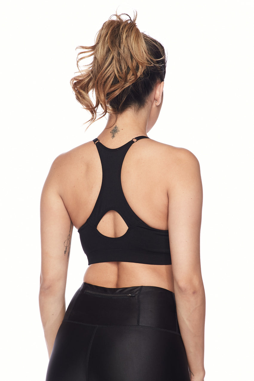 Cross-Out Racerback Athleisure Bra