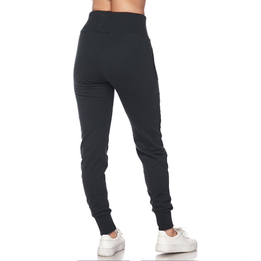 B Logo High Waisted Cuffed Jogger