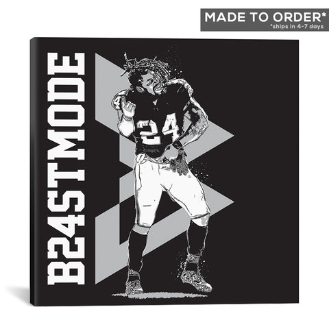 Go Beast Mode Square Canvas
