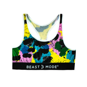 Beast Mode 80's Leopard Sports Bra