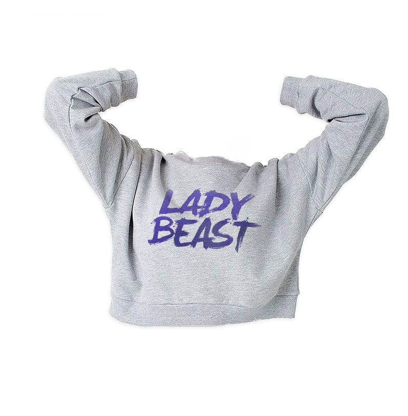 Lady Beast Cropped Sweatshirt -  - 2