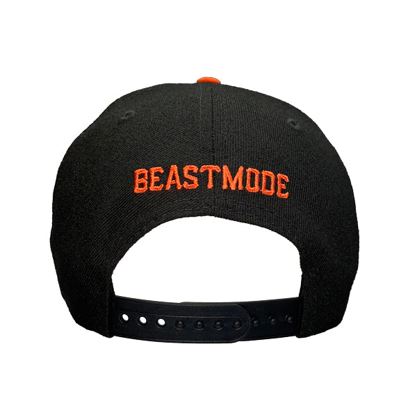 950 Beastmode Black Orange Snapback Hat