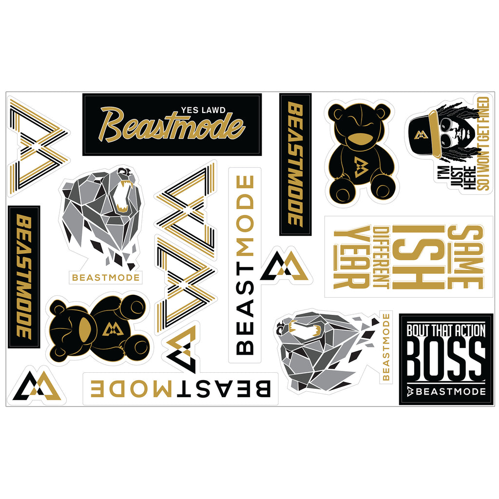 Beast Mode Sticker Pack