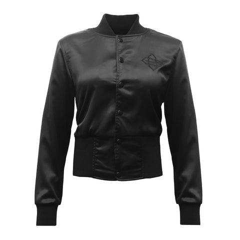 BEASTMODE x Gracie Women's Satin Bomber Jacket