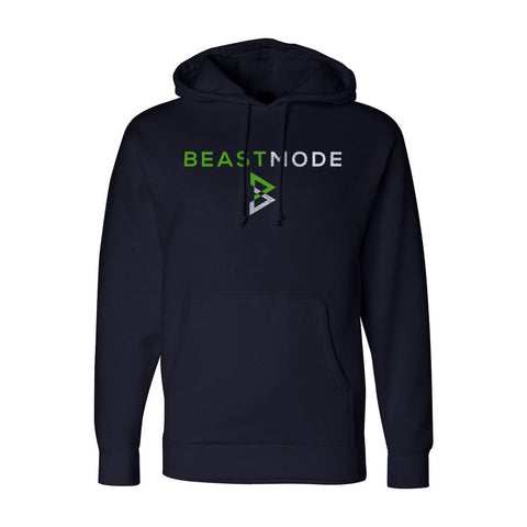Stacked Logo Hoodie in Navy