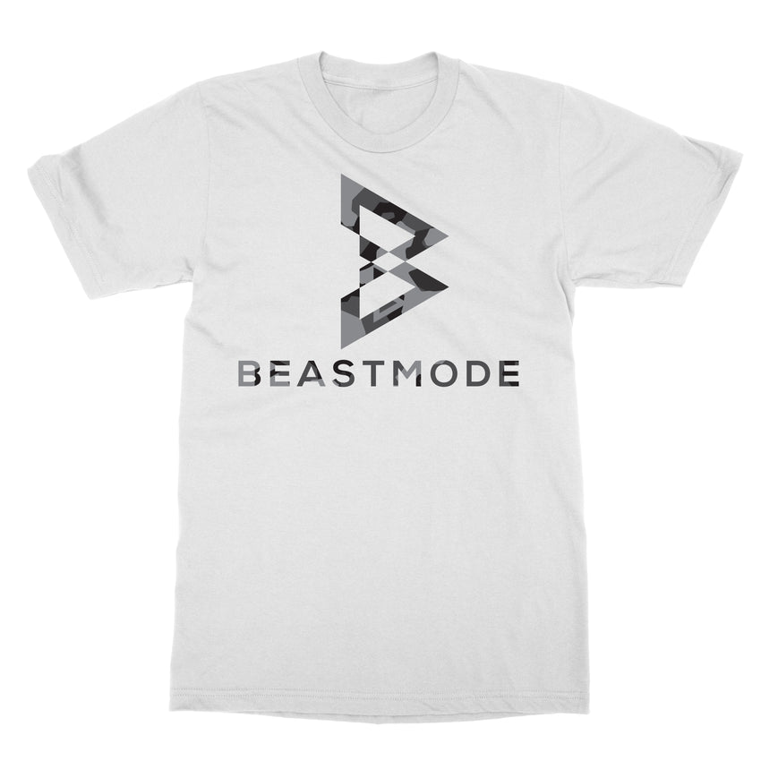 Charcoal Camo Core Logo Tee in White