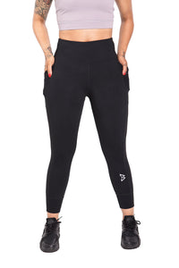 B Logo Ribbed and Cuffed Leggings