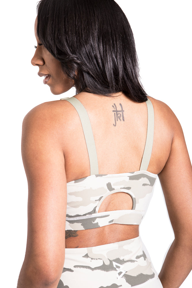 Light Camo Adjustable Sports Bra