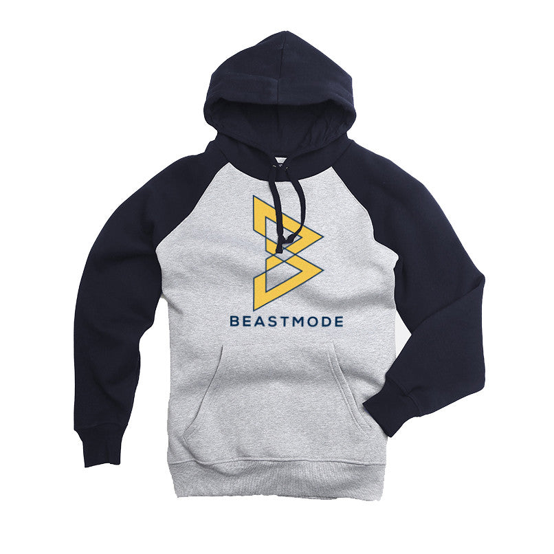 Blue and Gold Raglan Hoodie