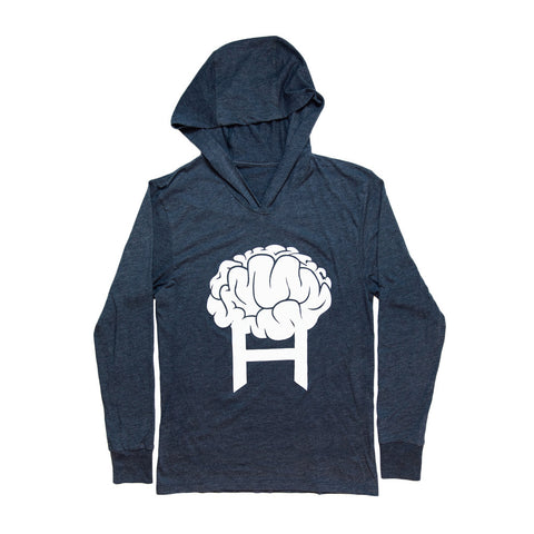 Head8cke Brain Hooded Tee (Navy Heather)
