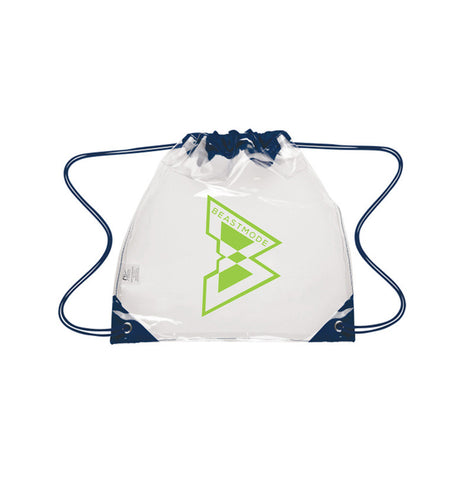 Clear Logo Cinch Bag -