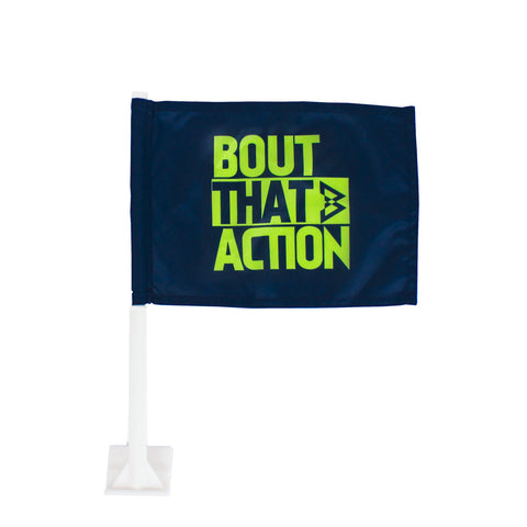 Navy Car Flag - Beast Mode® Apparel