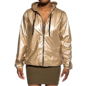 B Logo Metallic Jacket