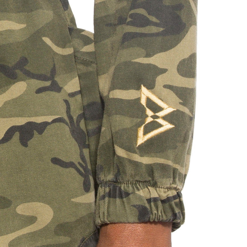 B Logo Camo Hooded Jacket
