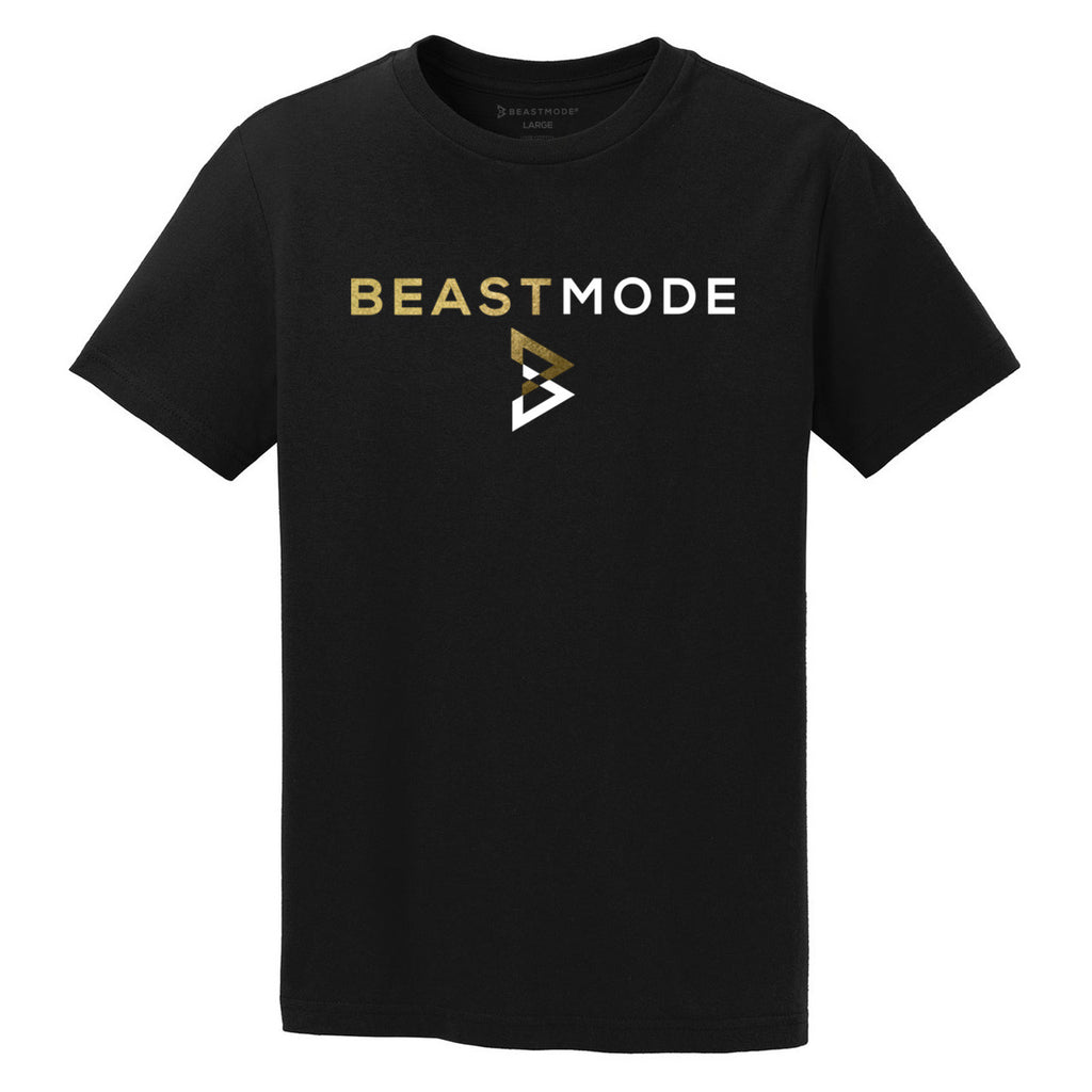 BEASTMODE Men's Stacked Logo Short Sleeve T-Shirt