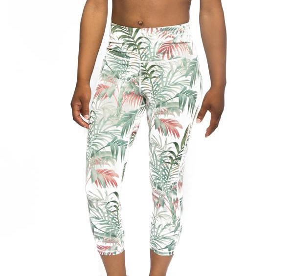 Tropical Paradise Capri Leggings