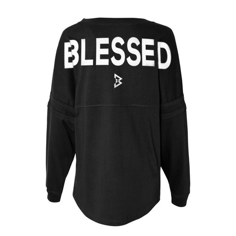 Womens Blessed Pom Pom Jersey
