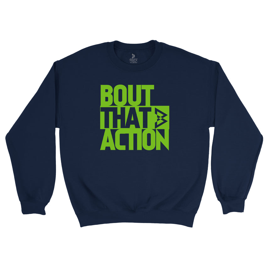 Bout that Action Crewneck - Navy