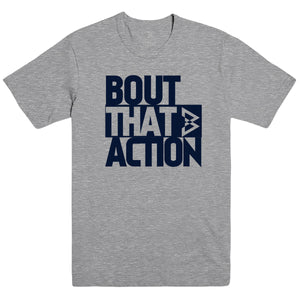 Bout that Action Tee - Heather Grey