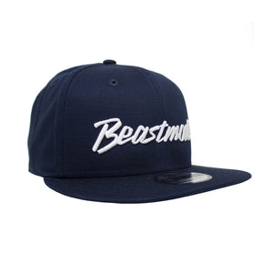 Script Snapback Hat in Navy
