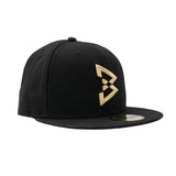 Solid Gold B Logo Fitted Hat