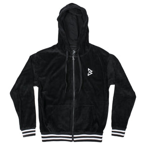 Women's B logo Velour zip-up hoodie