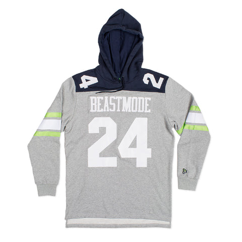 Gridiron Pullover Hoodie in Grey