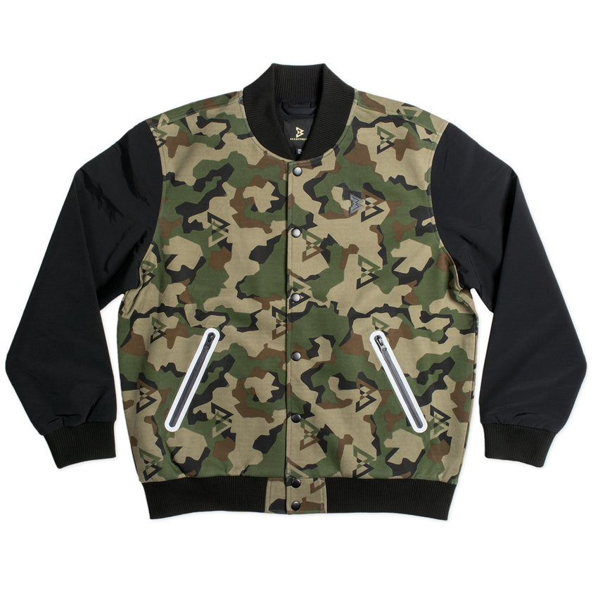 Technical Camo Bomber Jacket