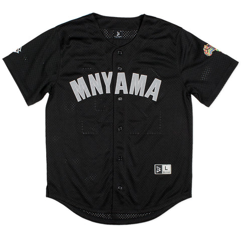 Mnyama Baseball Jersey in Black