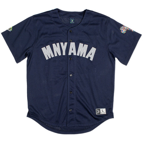 Mnyama Baseball Jersey in Navy