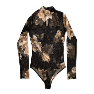 Zoe Sheer Floral Bodysuit