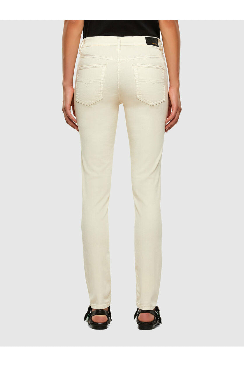 Diesel Rosin Skinny Regular Waist Jean - Cream