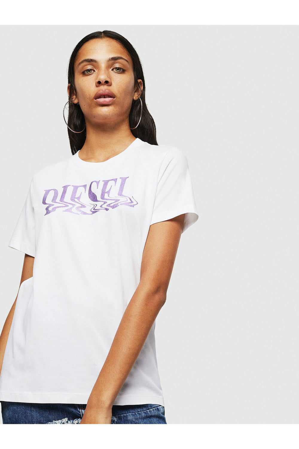 Diesel Sily T-Shirt - White/Purple