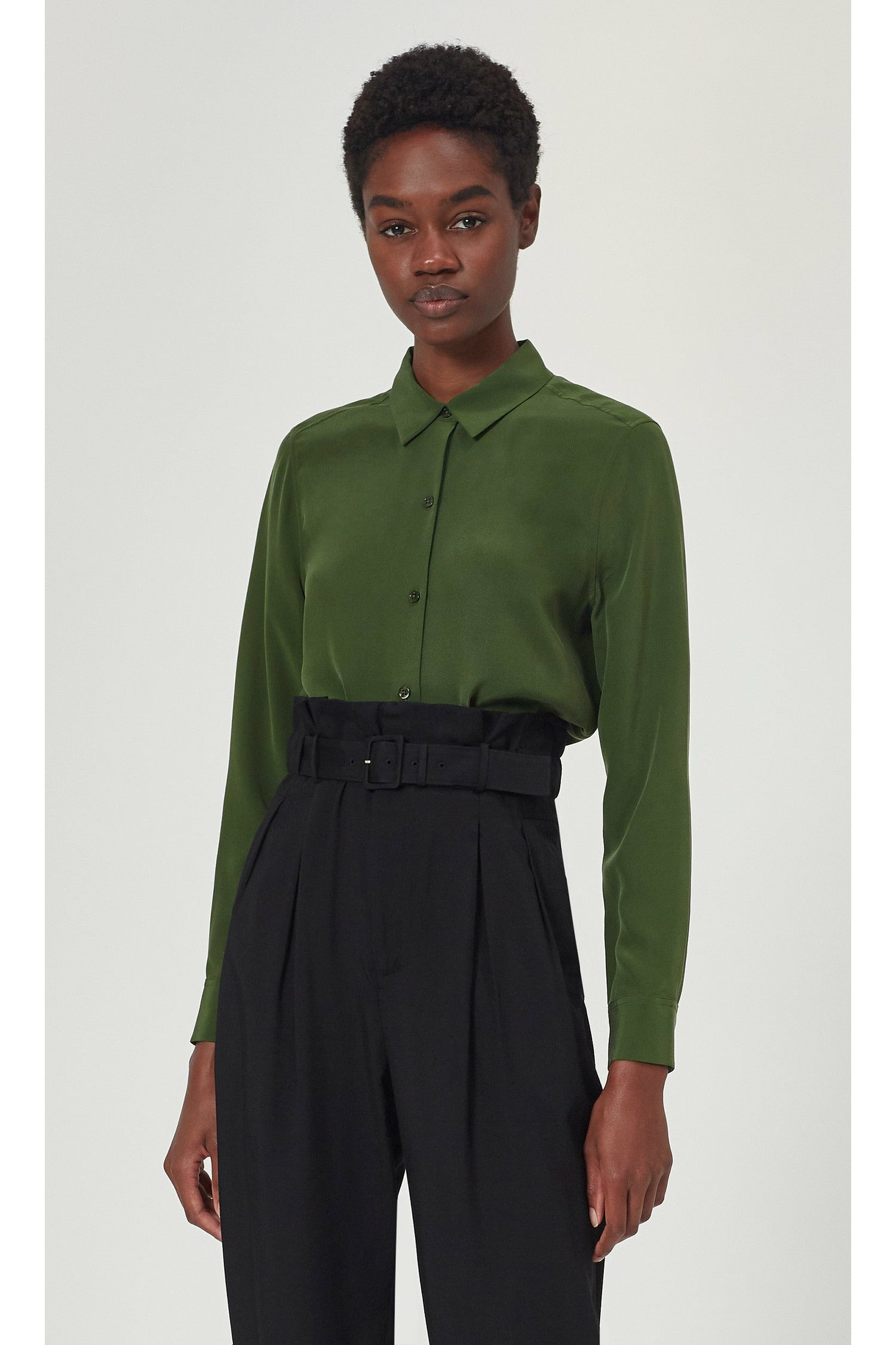 Equipment Essential Signature Shirt - Forest Green