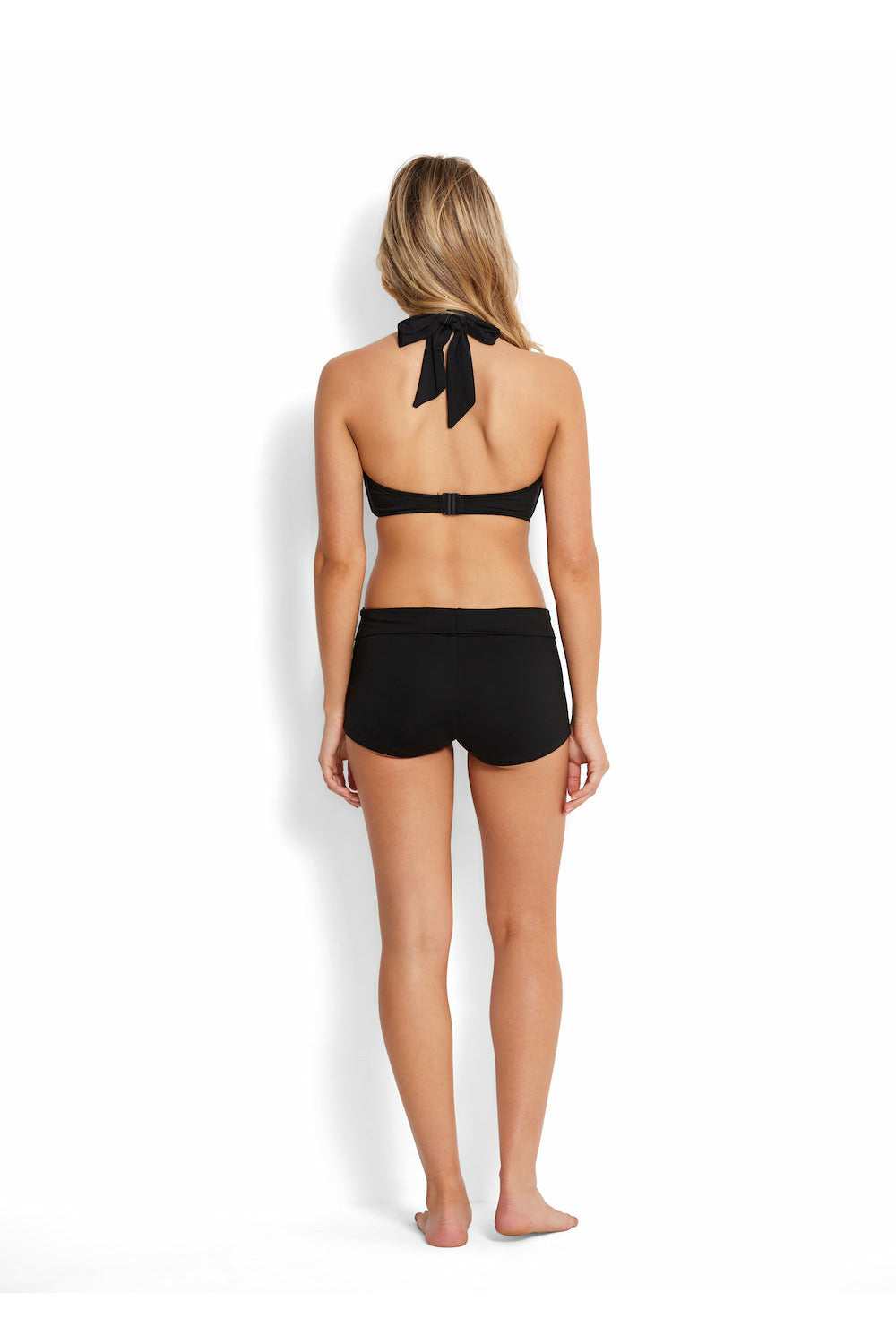 Seafolly Roll Top Boyleg Pants - Black