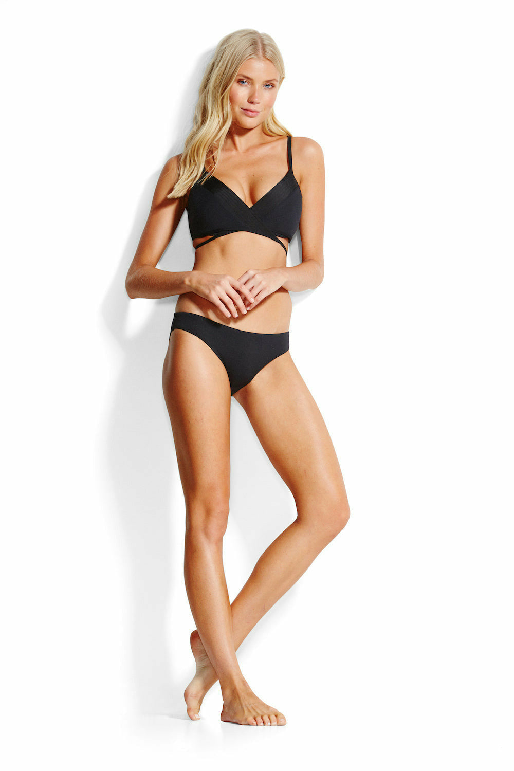 Seafolly Quilted Hipster - Black