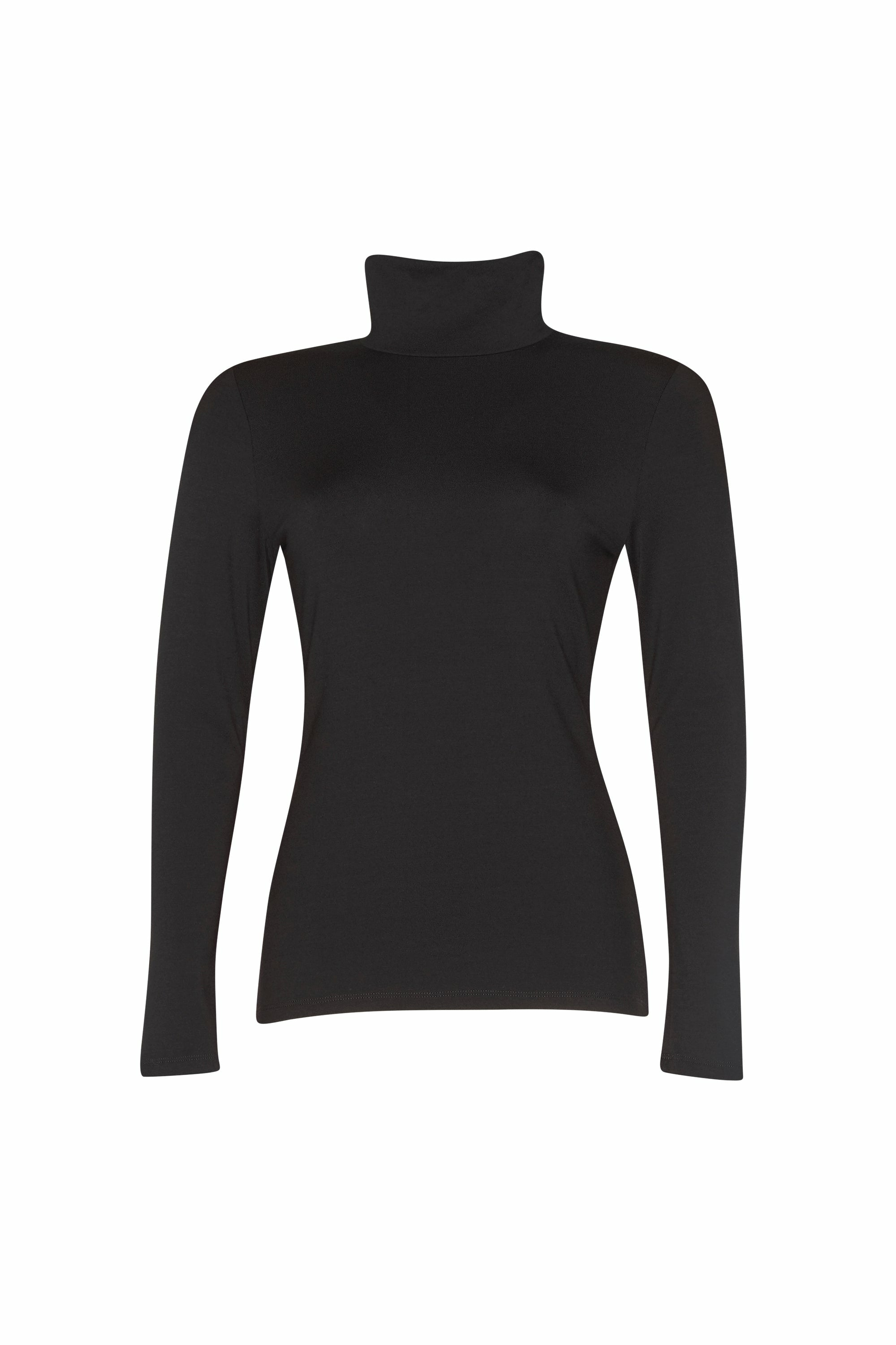 Paula Ryan Slim Fit Long Sleeve Polo Neck - French Navy